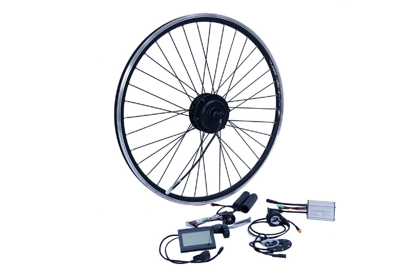 "E-Bike Umbausatz 26"" 8/9/10 Hinterrad RWD 36V 250W Disc Wasserfest IP65 1-Kabel"