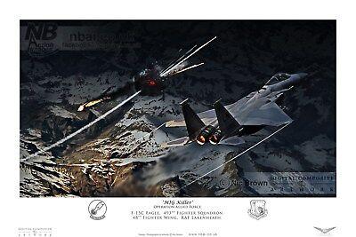 493rd Fighter Squadron, 48th FW F-15C Eagle RAF Lakenheath, Digital Artwork