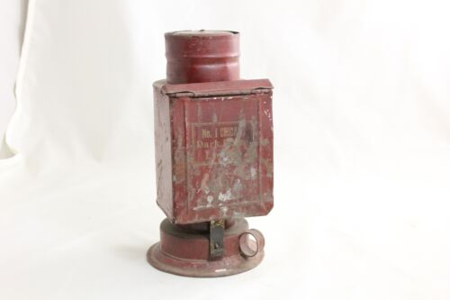 VINTAGE AND REALLY COOL CHICAGO No 1 DARK ROOM LAMP LANTERN