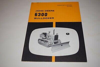 John Deere 6300 Bulldozer Operators Manual