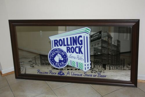 Rolling Rock Mirror Beer Sign 48""