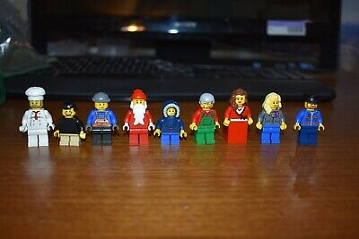 LEGO MiniFigure Lot Holiday Christmas Winter Village Bakery 10216 Santa Claus 44