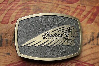 Vintage Indian Motorcycles Proud Owner Chief Bikers Western Belt Buckle