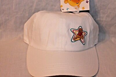 NEW  WITH TAG  WINNIE THE POOH  AND FREINDS KIDS WHITE STAR CAP