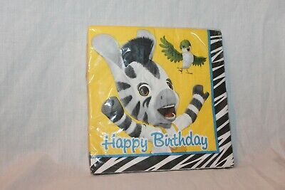 NEW  IN PACKAGE ZOU ZEBRA BOY 16- LUNCH NAPKINS   PARTY SUPPLIES