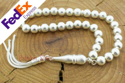 925 Sterling Silver Turkish Handmade Islamic Rosary Tesbih Misbaha