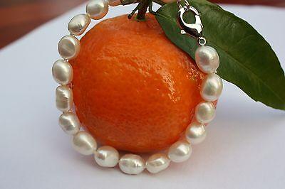 B025  echte Süßwasser Perlen Schmuck Perlenarmbänder Armschmuck Armbänder Collie