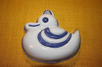 1 Ente Thun Kuchen Pudding  Back Keramik Auflauf Form blau weiß Landhaus (Ente Kuchen-form)