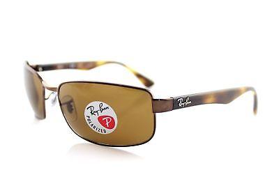 Ray-Ban Rb3478 Polarisierend Braun B-15 Objektiv Schildkröte Rahmen Sonnenbrille