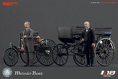1 18 Karl Benz   Gottlieb Daimler Very Rare    Figures For 1 18 Mercedes