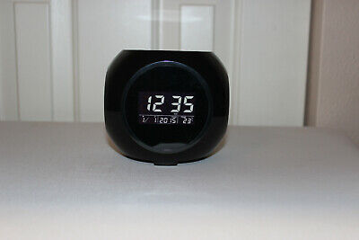 Sharper Image Sound Machine Projection Alarm Clock Digital with 6 Nature Sounds