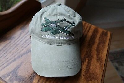 Wwii Ball Cap - P-38 WWII FIGHTER LOW PROFILE BALL CAP