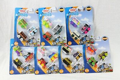 Lot of (7) Fisher-Price 3-Packs of Thomas & Friends Minis Trains 21 Minis (Fisher Price Thomas And Friends Minis 7 Pack)