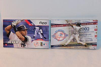 Derek Jeter Jason Giambi 2003 Flipp Books Mlb New York Yankees Vg Condition