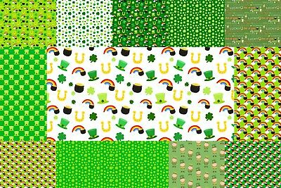 St patrick's day printed canvas sheets for craft hair bow making fabric material](Crafts For St Patrick's Day)