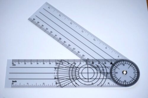 """Brand New 360 Degree Spinal Goniometer Ruler Expands to 14"""", US Seller"""