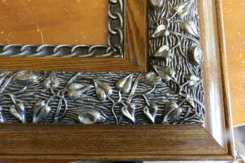 Grand Antique Victorian Era Ornate Layered Wooden Picture Frame