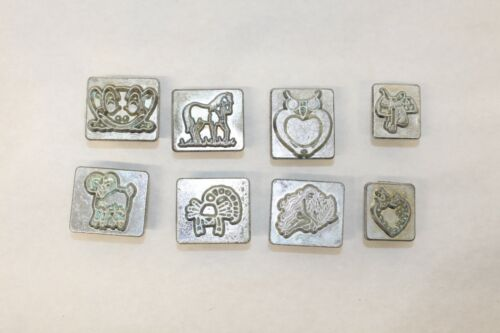 LOT 8 VINTAGE CRAFTOOL CO. U.S.A. LEATHER STAMPS # 2