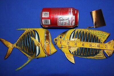2 Seafood Restaurant Fish Decor Realistic 3-d Polyresin Reef Fish 8 112 118