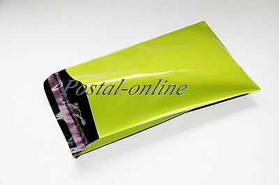 20 NEON GREEN Plastic Mailing Bags shoe box 12x16 mm 12 x 16 305x406mm 20x poly