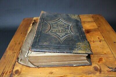 Vintage Antique Bible Illustrated National Family Rev. John Eadie Scott & Henry