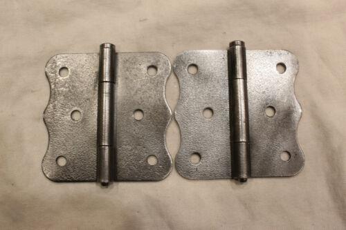 """Pair of 3"""" x 3""""  Vintage Butterfly Steel Hinge"""