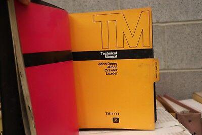 Jd555 John Deere Crawler Loader Technical Manual Book With Operators Manual