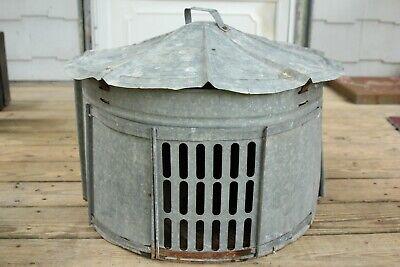 Vintage Galvanized Chicken Coop Hen Brooder Nesting House