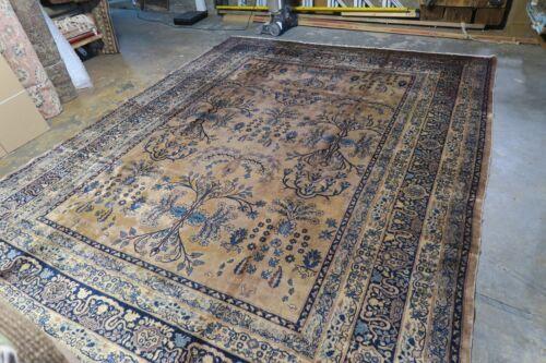 Antique Indo Sarouk Lilihan Kashan Persian Hand Knotted Wool Rug 8