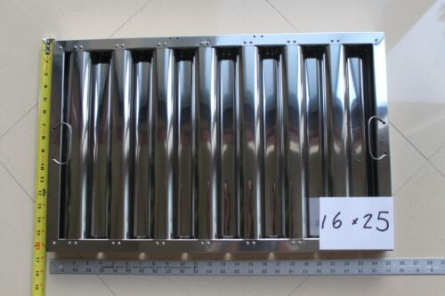 Box of 6 pc Defense Stainless Steel Commercial Hood Baffle Grease Filter 16 x 25