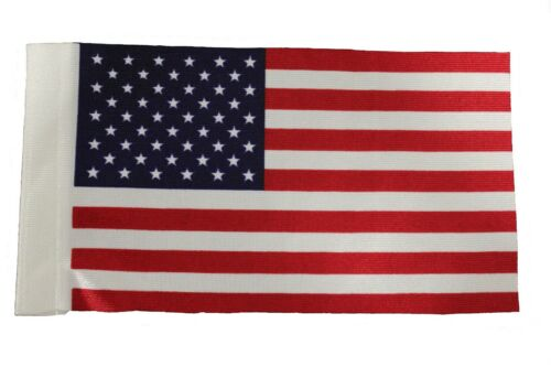 "USA Country 9"" x 6"" Inch CAR ANTENNA FLAG..New"