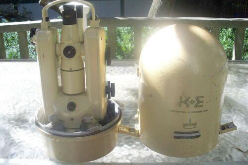 CLEAN KEUFFEL & ESSER K&E KE-2 THEODOLITE WITH ACCESSORIES