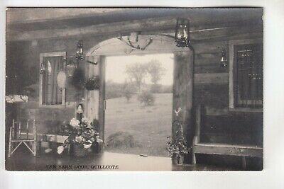 Real Photo Postcard Quillcote Barn Door Summer Home of Kate Wiggin Hollis ME