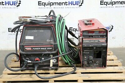 Lincoln Electric Power Wave 355m Welder W Power Feed 25m Wire Feeder