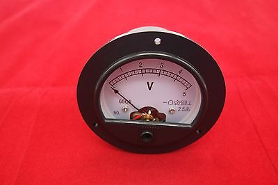Dc 0-5v Round Analog Voltmeter Voltage Panel Meter Dia. 90mm Directly Connect