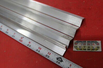 4 Pieces 34 X 34 X 18 Aluminum 6061 Angle Bar 36 Long T6 Mill Stock
