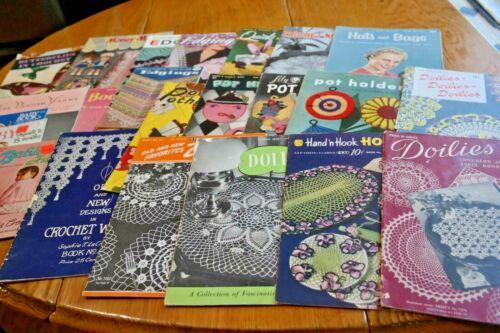 23 Vintage Crochet Pattern Books 1940-1950 Era
