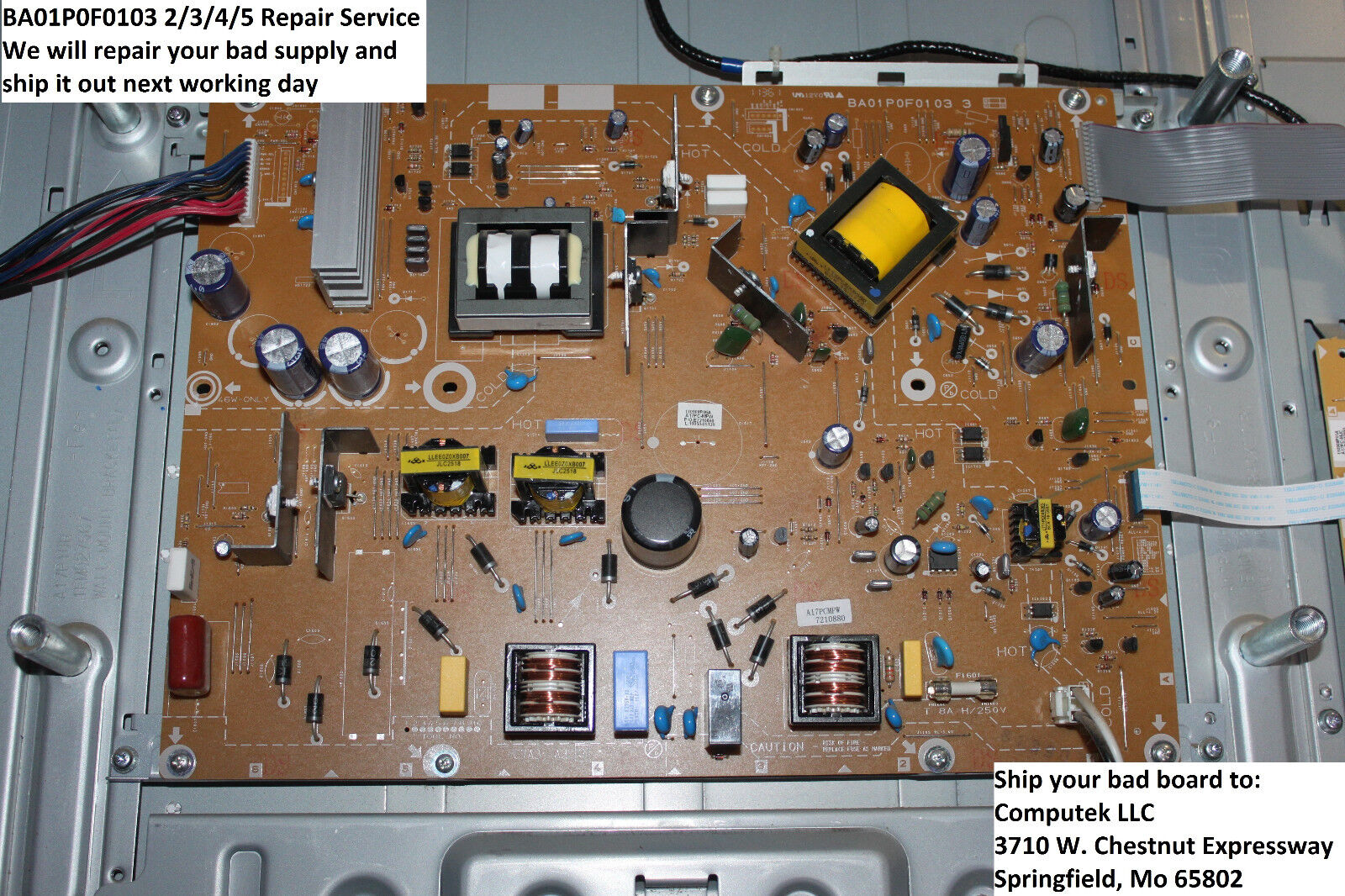 Repair Service For 46pfl3505d/f7 Power Supply Emerson Mag...