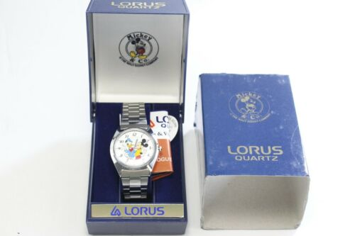 Vintage Lorus Mickey Mouse Donald Duck Stainless Steel NOS Wrist Watch - READ
