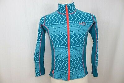 Kari Traa Woman's Fleece Hiking Outdoor Full Zipped Jacket sz M
