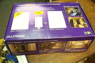 Nib Lutron Mrf2-whk Maestro Wireless Welcome Home Package
