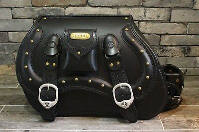 Sensual Punched Leather Saddle Tools Bag Tail Rear Pouch For Road Racer Cyclists