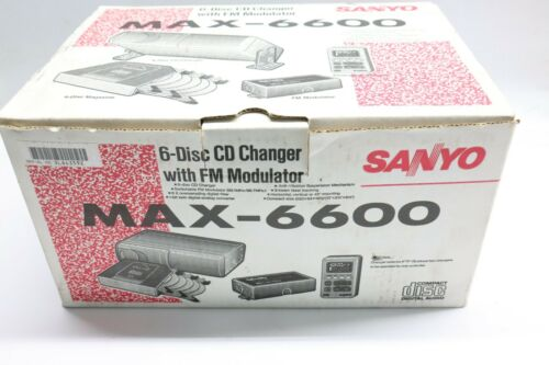 Nice New Open Box NOB Sanyo MAX-6600 - Six Disc Auto CD Changer W/ FM Modulator