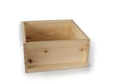 Cría Caja para National Colmena Pino Cría Caja Plano Pack