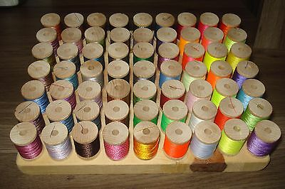 63 neon glow in the dark twist multi color thread rod building 100 YARDS SPOOLS