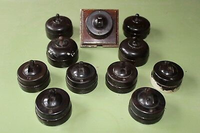 Reclaimed Bakelite Dolly Light Switch (11 switches) (Bake1)