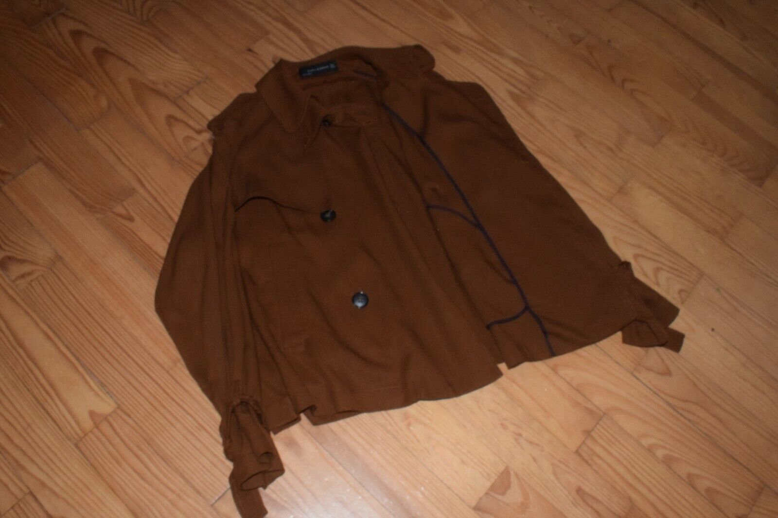 §§§ trench court femme couleur marron fonce taille s zara woman §§§