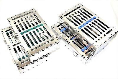 Lockable 4 German Dental Autoclave Sterilization Cassette Rack Box 7 Instrument