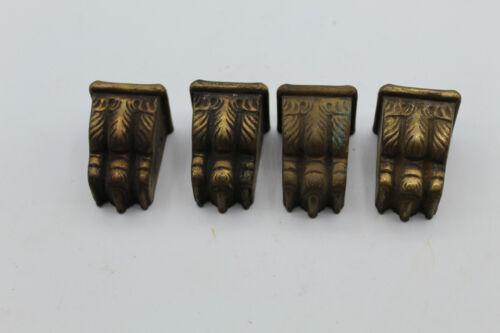 (4) VTG Brass Duncan Phyfe Furniture Leg End Toe Cap Lion Foot Claw