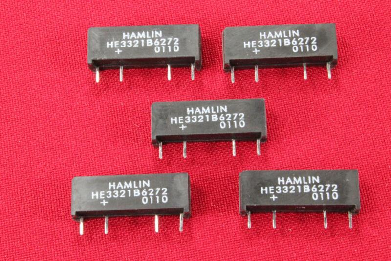 Lot of 5 - Hamlin HE3321B6272 - SPST-NC 5VDC - 4 Pin Reed Relay